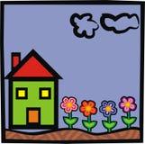 House. Happy House illustration Royalty Free Stock Image