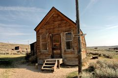 House. Falling old wooden house in Bodie ghost town in California Royalty Free Stock Image