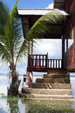 House. And water on the beach in Cherating, east Malaysia Stock Images