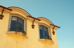 House. And blue sky royalty free stock photo