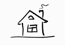 House. The line art image of small house Stock Image