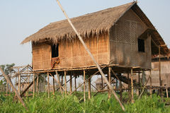 House. Fisherman family house in lake inle Stock Images