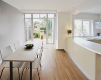 House. Colour image kitchen in newly restored rebuilt house work surfaces Royalty Free Stock Photo