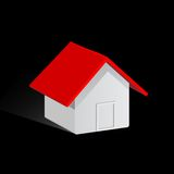 House. An illustration of an isolated house over white background Royalty Free Stock Photo