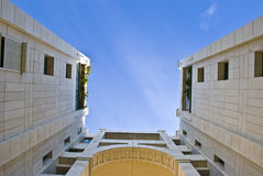 House. Modern building on a bright blue sky Royalty Free Stock Image