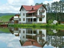 House. At lakeside Stock Photo