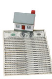 House. A house made of dollar bills Stock Image
