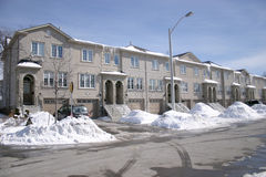 House. A canadian townhouse Royalty Free Stock Photo