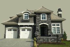 House. New designer home isolated on a gray background Stock Images