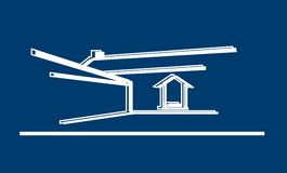 House. Symbol of house Royalty Free Stock Images