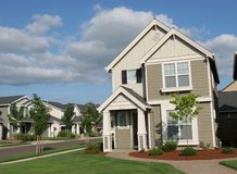House. New suburban real estate Stock Photos