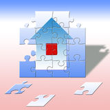 House. The house from parts, puzzle Royalty Free Stock Photography