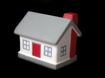 House. Toy house on black background Royalty Free Stock Images