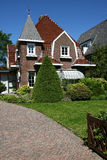 House. In a rich neighbourhood in Leeuwarden(Holland Royalty Free Stock Photography