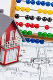 House, abacus, plan Stock Photos