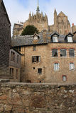 House in the abbey of Mont Saint Michel May 4, 2013 in Normandy, France. Stock Photography