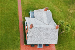 House from Above Royalty Free Stock Images
