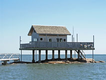 House above the water. House on stilts Royalty Free Stock Photography