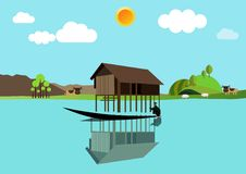 House above the water Royalty Free Stock Photos