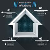 House abstract 3d icon. Business infographic. Vector eps10 Royalty Free Stock Photos