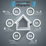 House abstract 3d icon. Business infographic. Vector eps10 Royalty Free Stock Image