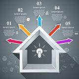 House abstract 3d icon. Business infographic. Vector eps10 Royalty Free Stock Photography