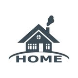 House abstract real estate countryside. Logo design template. Realty theme icon Stock Photo
