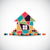 House abstract real estate vector background. Royalty Free Stock Photo