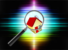 House on Abstract Spectrum Background Royalty Free Stock Image