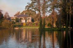 House Across the Lake Stock Photo