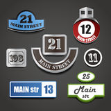 House address plates collection Stock Photo