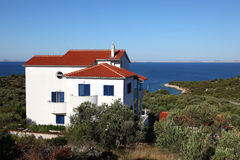 House at the Adriatic Coast Royalty Free Stock Photography