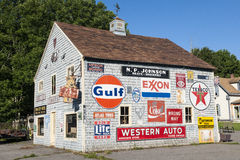 House with advertising. House full of advertising billboards in Maine royalty free stock images