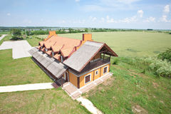 House aerial view Royalty Free Stock Photos