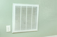 House air conditioner filter intake vent on wall Royalty Free Stock Photography