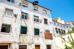 House in the Alfama district Stock Images