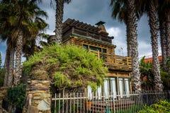 House along the boardwalk, in Venice Beach, Los Angeles  Stock Photo