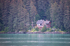 House along Inside Passage, Juneau, Alaska Royalty Free Stock Photo