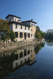 House along Naviglio Grande Milan Royalty Free Stock Photo
