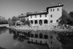 House along Naviglio Grande Milan Royalty Free Stock Photos