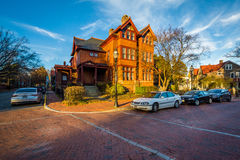 House along State Circle, in Annapolis, Maryland. Stock Image