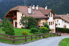 Country house in Alpine village Royalty Free Stock Photography