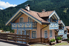 Country house in Alpine village Royalty Free Stock Images