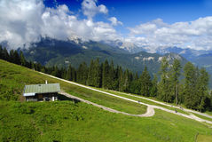 House in the Alps Royalty Free Stock Images