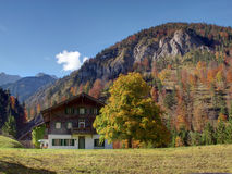 House in the Alps Stock Photography