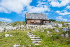 House in Alps royalty free stock photography