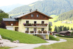 House in the Alps stock photo