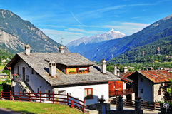 House in Alps Royalty Free Stock Image