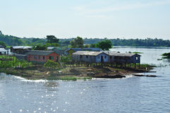 House on the Amazon river Royalty Free Stock Photo