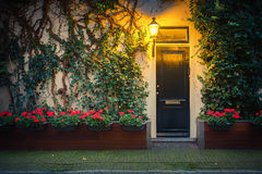 House in Amsterdam. Traditional house in Amsterdam at night Stock Photos